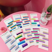 50Pcs HairClip Wave Flat Curved Styling Metal Barrette Candy Color Fixed Hairstyle For Kids Girls Cute HairPin Hair Accessories