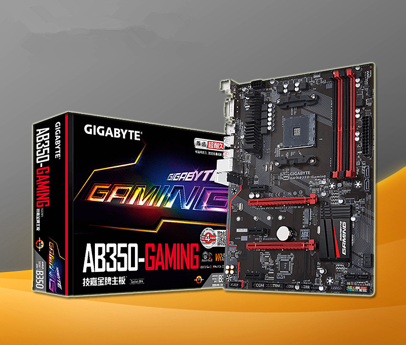 US $262 52 |For Gigabyte GA AB350 Gaming 3 AB350 Gaming 3 B350 AM4 DDR4  Game Board Support Ryzen Series-in Motherboards from Computer & Office on