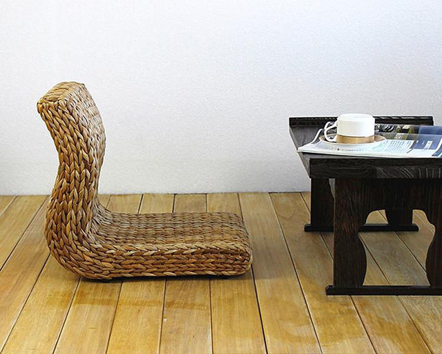 Handmade Japanese Floor Legless Chair Made From Banana Leaves Sitting Room Furniture Asian Traditional Tatami Zaisu Chair & Online Shop Handmade Japanese Floor Legless Chair Made From Banana ...