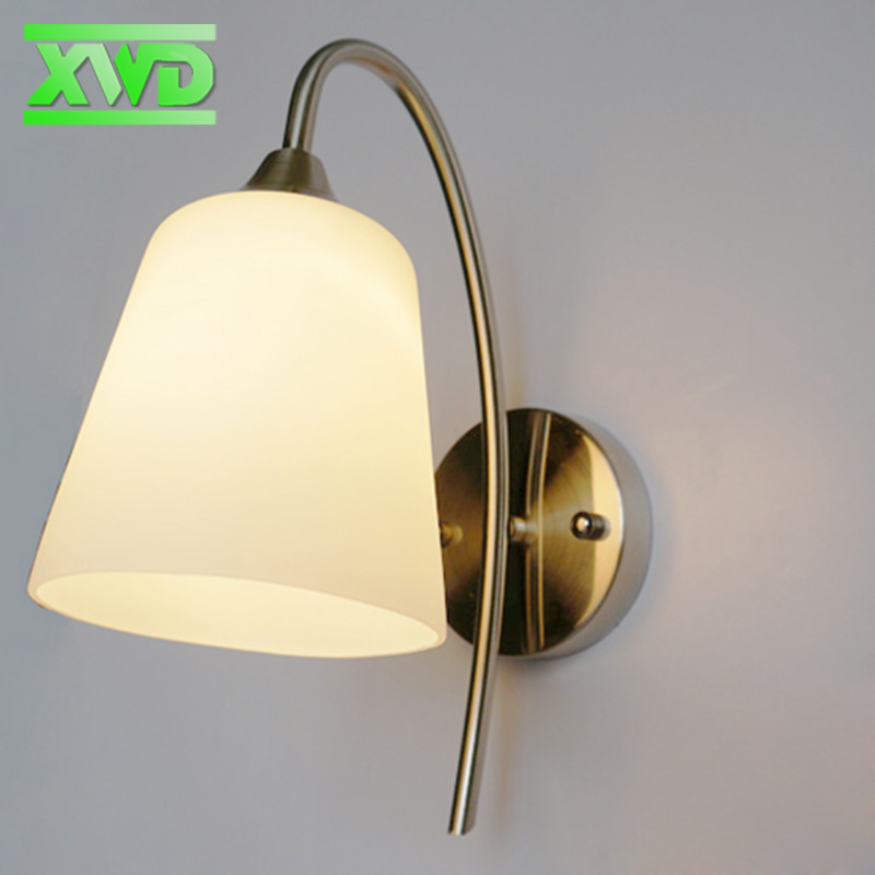 Modern Industrial Wall Lamps Acryl Bedside Wall Light Glass Lampshade E27 Edison Bulbs 110V/220V lotus leaf Lamps