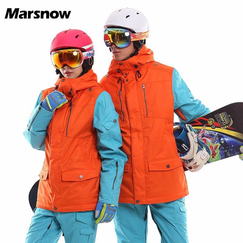 2017 New Women Ski Jacket Winter Men's Snowboard Jackets Waterproof Breathable Thick Warm High Quality Outdoor Skiing Wear WJ035 цена и фото