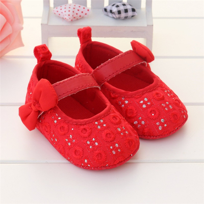 fashion female baby princess shoes 0-1 year old baby girl toddler shoes  indoor soft outsole cotton-made baby shoes red and pink 707491f22c79