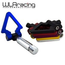 WLRING STORE - LZONE JDM Racing Screw Aluminum CNC Triangle Ring Tow Towing Hook JDM RACE For LEXUS ES 2006+ WLR013