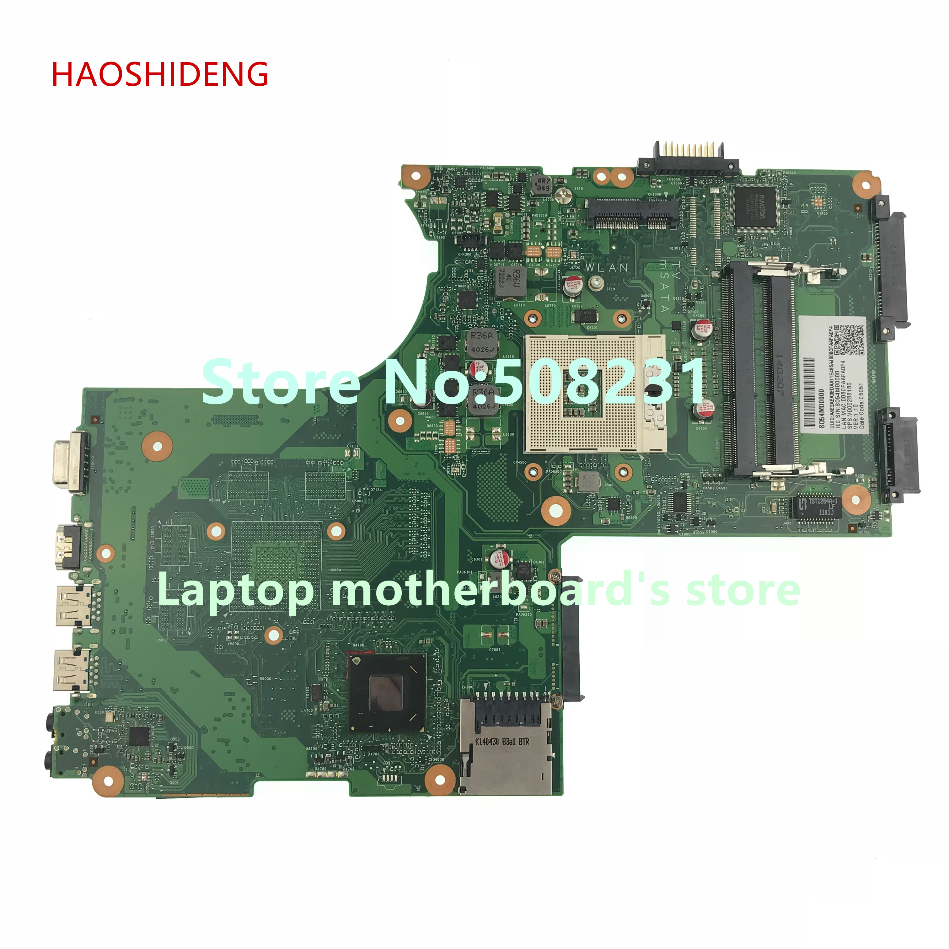 HAOSHIDENG V000288180 Mainboard For Toshiba Satellite P870 P875 Notebook motherboard GL10FG-6050A2492401-MB-A03,fully Tested цена и фото