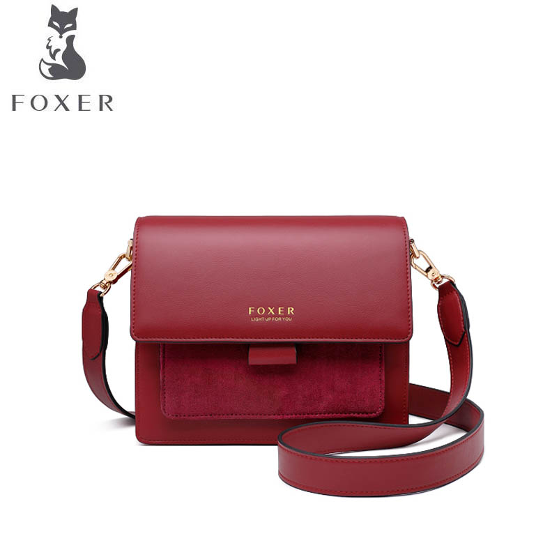FOXER  Small fragrance bag female 2019 new large capacity bucket bag wandering bag shoulder Messenger bag Designer bagsFOXER  Small fragrance bag female 2019 new large capacity bucket bag wandering bag shoulder Messenger bag Designer bags