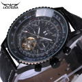 Hot Sale JARAGAR Mechanical Watch Men Retro Black Big Dial Fashion Watches Male Clock Gift for Mens Relogio Male Masculino