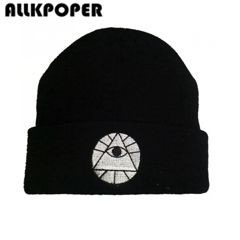 ALLKPOPER Gravity Falls Bill Winter Warm Knit Beanie Skullies Hat Caps Adult Boy Dipper Mabel Bill Black Cool Men Acrylic Knit high quality cotton gravity falls u s cartoon animation mabel dipper fans adult kids boys girls baseball hat caps gorras planas