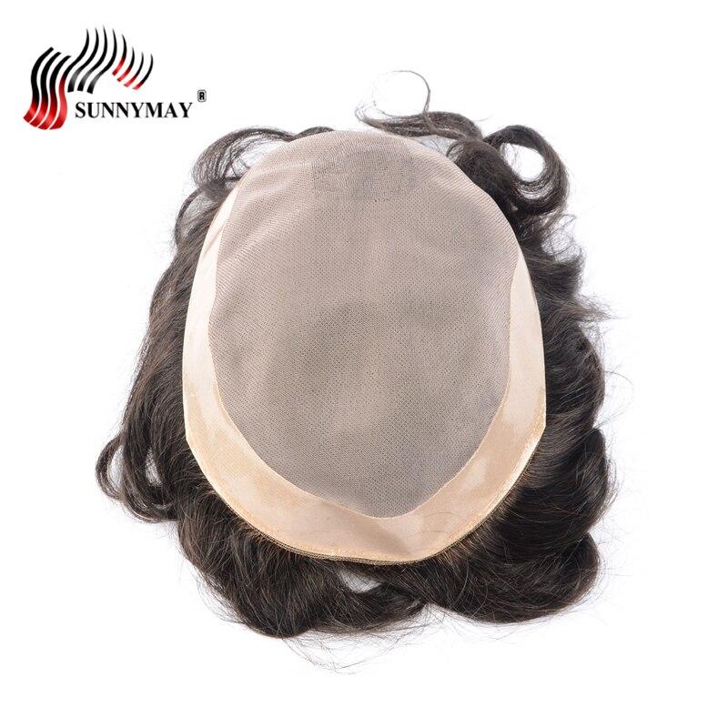 Sunnymay stock fine mono with skin around , hair men toupee , hair replacement men toupee free shipping