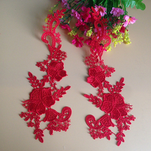 10Pcs Ribbon Trim Lace Applique Fabric Embroidered Scrapbooking Trimming Crafts Materials Flower Handcraft