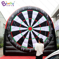 Free express 5 meters high giant inflatable football soccer dart board inflatable soccer darts game for kids funny outdoor games