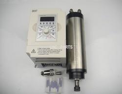 Wrzeciono frezarskie CNC ER11 800 w silnik wrzeciona chłodzenia wody + 10 sztuk cnc końcówki do grawerowania + wsparcie wrzeciona + 1.5KW falownik Wrzeciono obrabiarki Narzędzia -