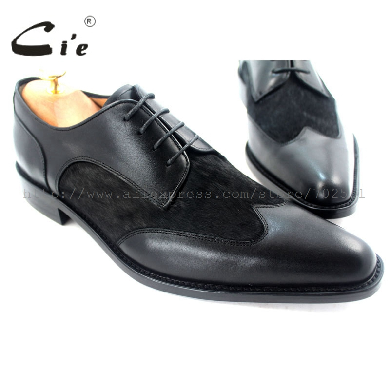 cie Free Shipping Pointed Toe Handmade Genuine Calf Leather Men's Dress/Classic Derby Black/Horse Hair Calf Leather Shoe No.D56 купить часы haas lt cie mfh211 zsa