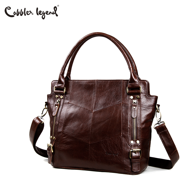 Cobbler Legend Women Handbags Hobo Shoulder Bags Tote Designer Genuine Leather Handbags Female Fashion Large Capacity