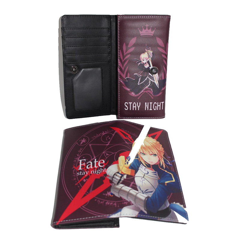 Anime fate stay night Cosplay PU Leather Purse Wallet Pencil Case Bag