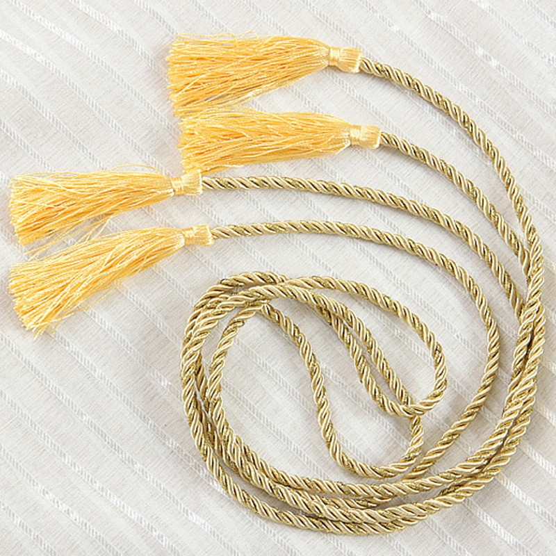 Yellow And Gold Wholesale Curtain Holdbacks Curtain Accessories Rope Home  Window Curtain Tie Backs Decoration(