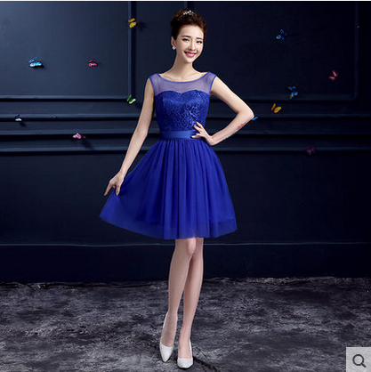Short royal blue bridesmaid dresses for Royal blue short wedding dresses