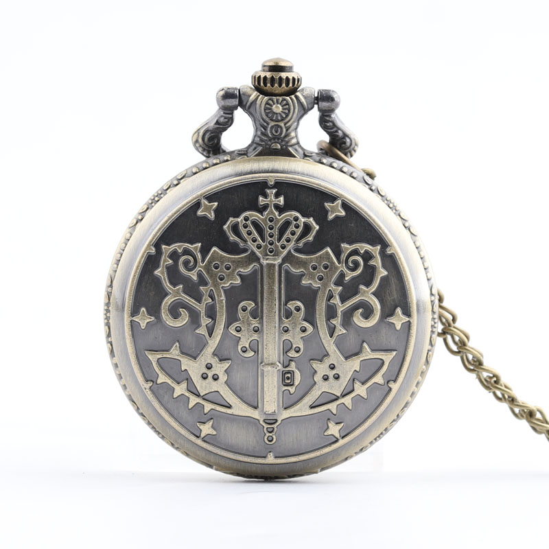 Pocket & Fob Watches Kuroshitsuji Black Butler Sebastian Anime Pocket Watch for Men Women/Mens  Pendant Watch Gift