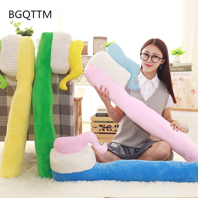 90cm Creative Plush Toothbrush Pillow Cushion Bolster Stuffed Toys Dolls Birthday Wedding Gift Present Home Shop Deco Kids Toy 65cm plush giraffe toy stuffed animal toys doll cushion pillow kids baby friend birthday gift present home deco triver