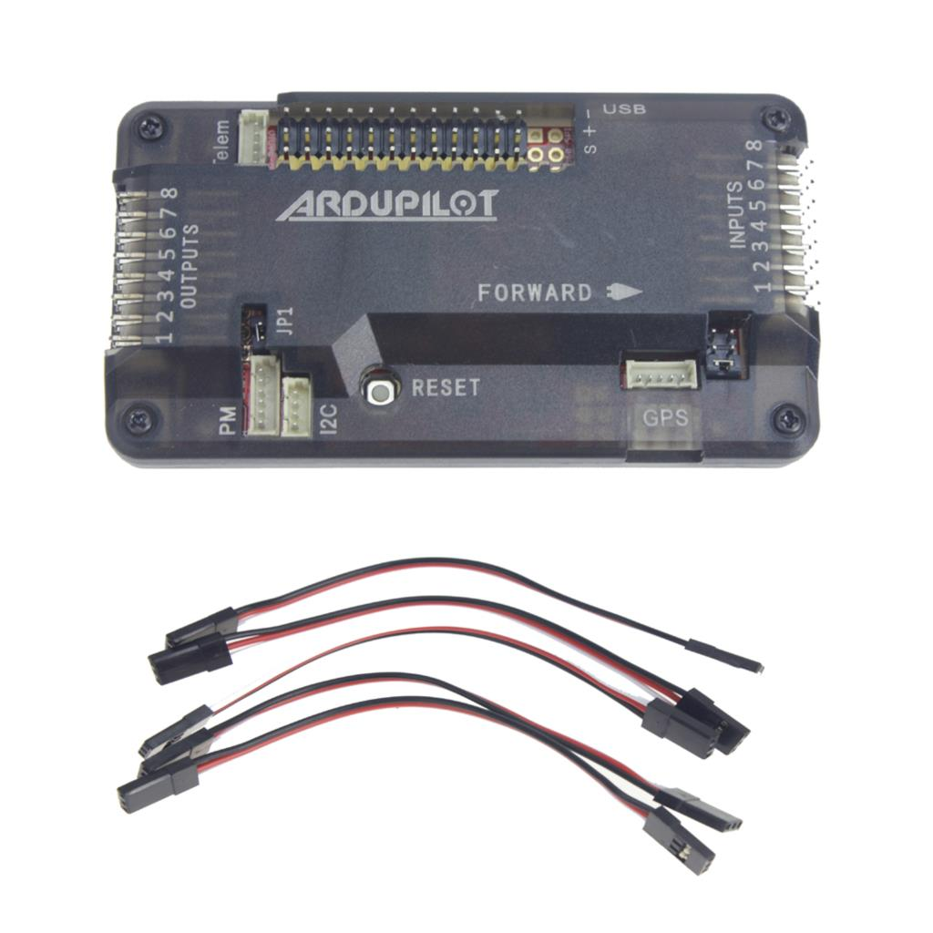ФОТО F14586-A APM2.8 APM 2.8 Multicopter Flight Controller Board with Case Compass & Extension Cable for FPV RC Drone Multirotor FS