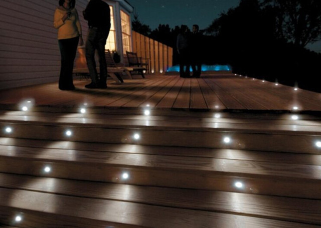 Online shop led step light outdoor recessed wall light lamp 12v 1w image aloadofball Image collections