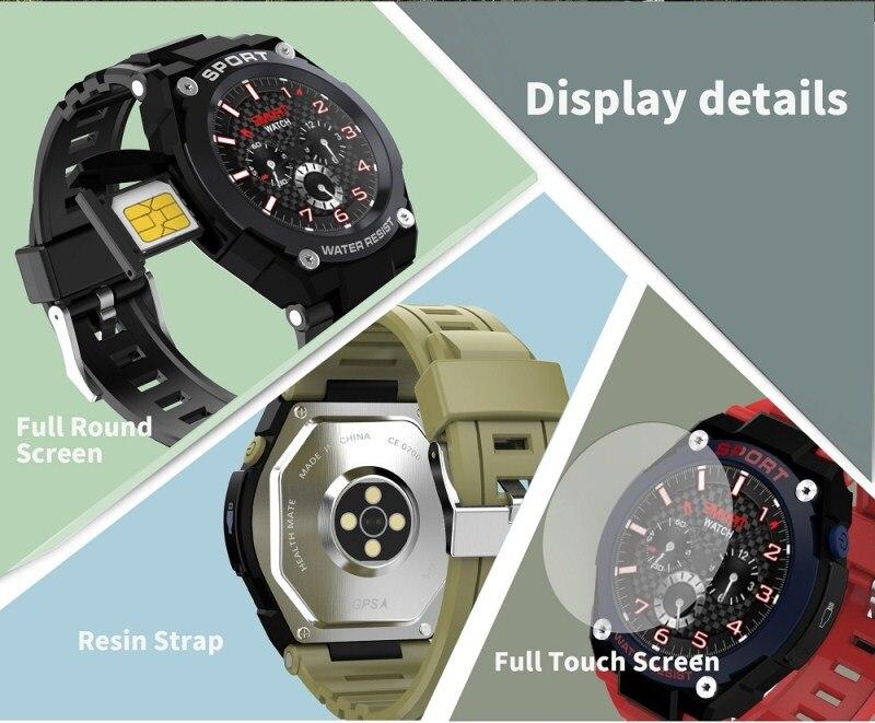 № 1 G9 1,3 дюймов gps Bluetooth Смарт часы на открытом воздухе сердечного ритма вызова несколько спортивных режимов IP67 Смарт часы мобильного телефона для мобильного телефона 2G GSM часы телефон - 6
