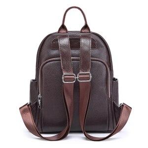 Image 2 - Sac à dos de mode pour femmes en cuir véritable sac à bandoulière de luxe pour femmes