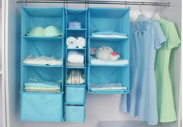 Washable Layer Durable Oxford Cloth Organizer Rack Wardrobe Clothes Storage  Hanging Bag