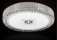 2014 Clear And Amber Crystal Lustre LED Ceiling Light With LED SMD High Quality Light Source
