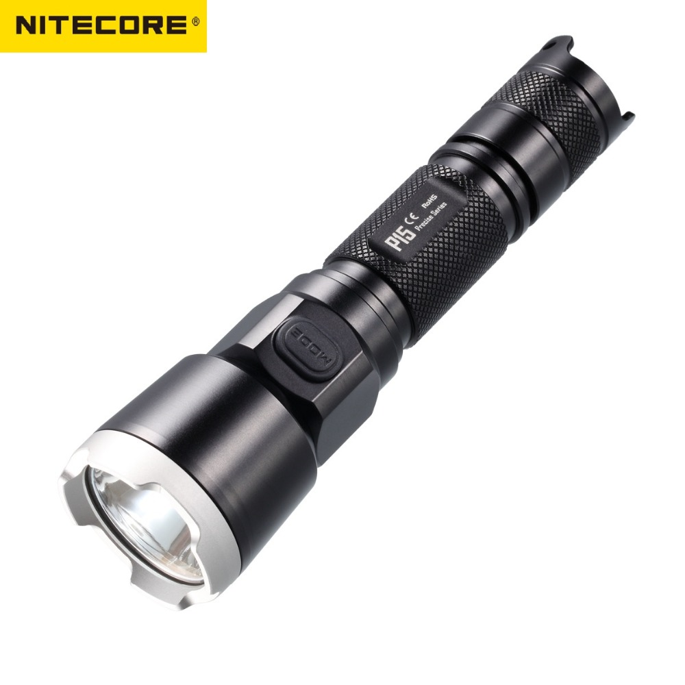 NITECORE P15 Precise CREE XP-G2 LED Flashlight Torch Light for Self Defense by 1x 18650 or 2x CR123A Battery nitecore mt1a 180lm cree xp g2 led edc flashlight torch
