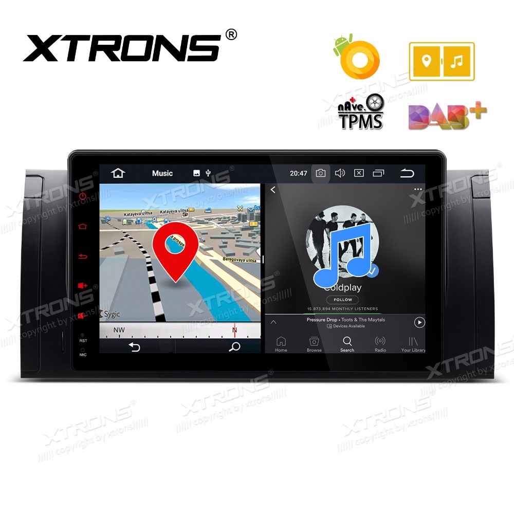 XTRONS 9'' Android 8.0 Octa Core 1 Din Car DVD Player Radio GPS Navigation for BMW X5 E53 1999-2005 2006/E39 1995 1996 1997-2003 image