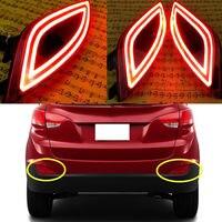 For Hyundai Tucson / ix35 2010 2014 2PCS Rear fog lamp LED light guide