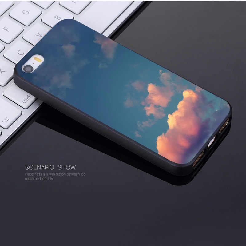 MaiYaCa Tempo Nuvem Céu Azul venda Quente design de moda celular Case para iPhone Da Apple 8 7 6 6 S Plus X XR XS XSMax 5 5S SE Tampa