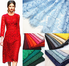 1.5*1.5meters Embroidery Eyelash Cotton Lace Fabric French Cord Lace Cloth African Guipure Lace For Party Wedding Dress RS980
