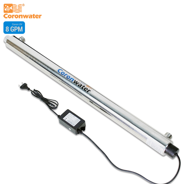 Coronwater SS304 8 GPM UV Sterilizer Disinfection System CE, RoHS for Water Purification SEV 5885