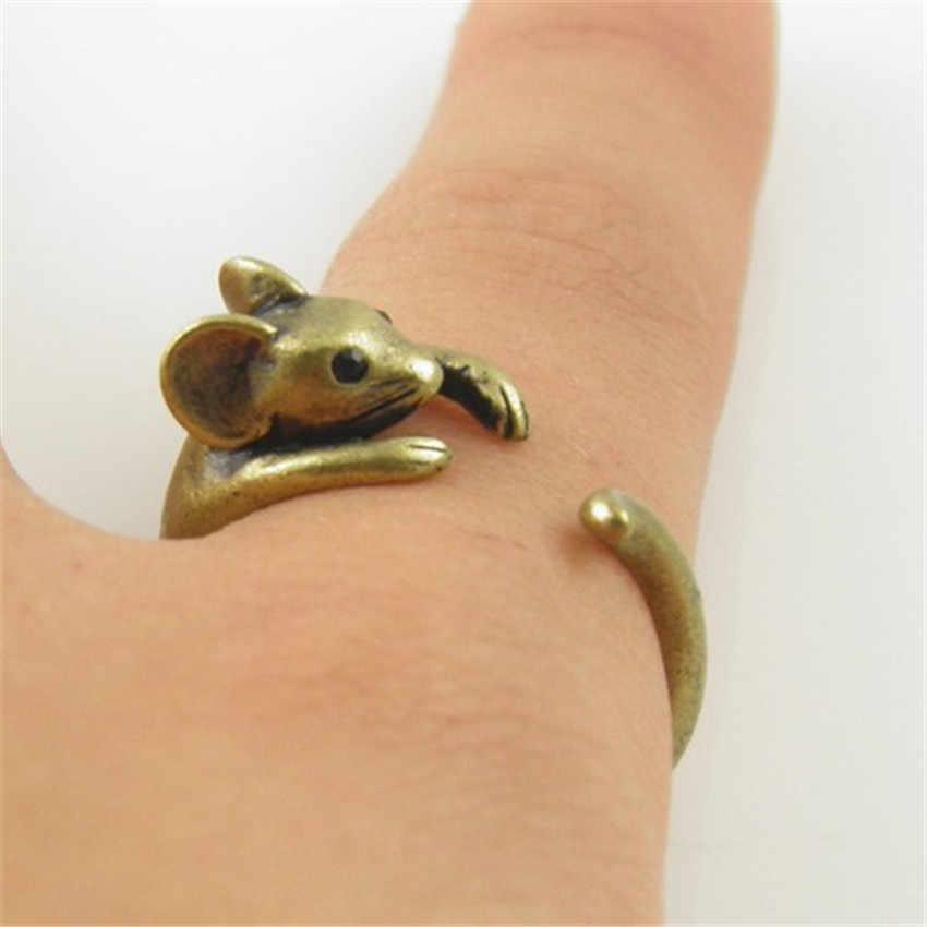 CHENGXUN Boho Chic Vintage เงินทองเหลือง Knuckle ปรับแผ่นห่อสัตว์ Weeding แหวนแฟชั่นผู้หญิงเครื่องประดับของขวัญ