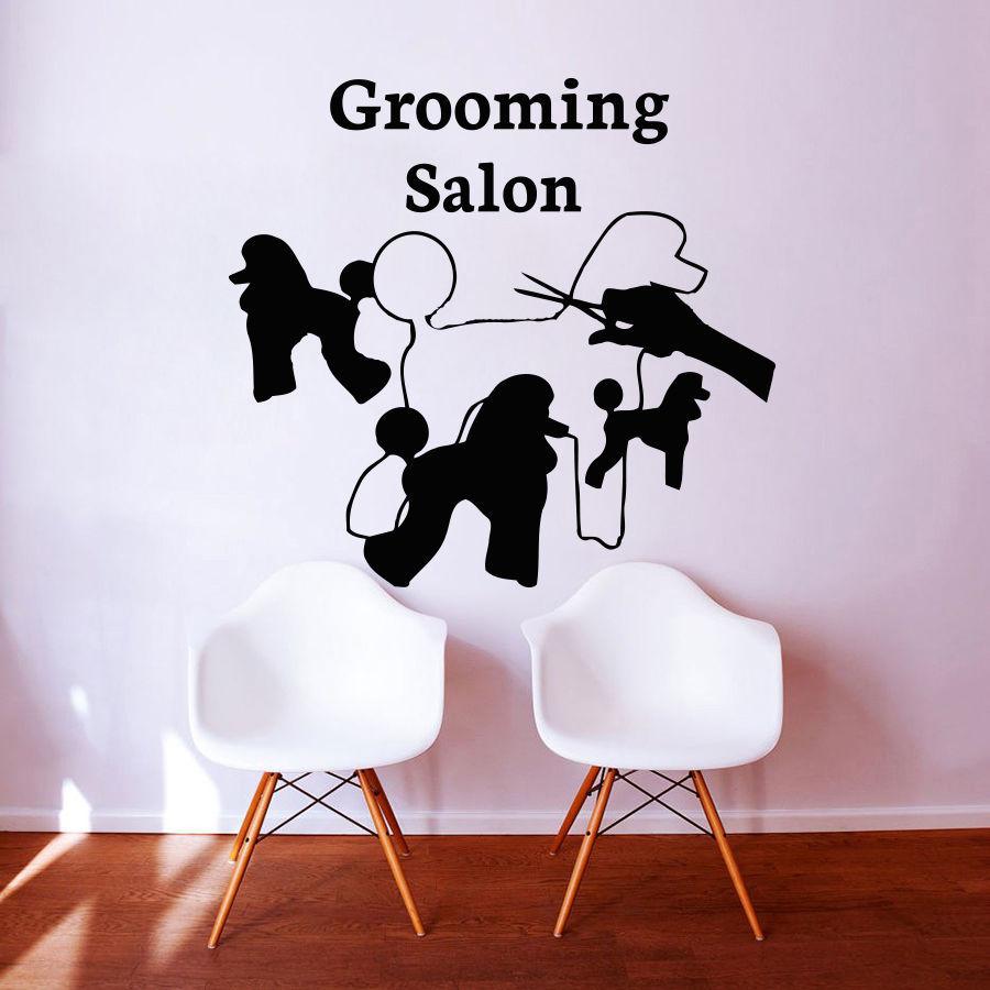 Dog Grooming Salon Pet Shop Sticker Decal Posters Vinyl ...