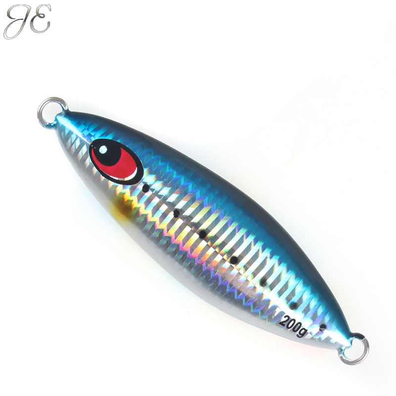 150g 200g 250g JE Sardine Lead Metal Sinker Floral Jigging Lure Slow Pitch Sinking Jig Deep Sea Artificial Fishing Bait Seawater