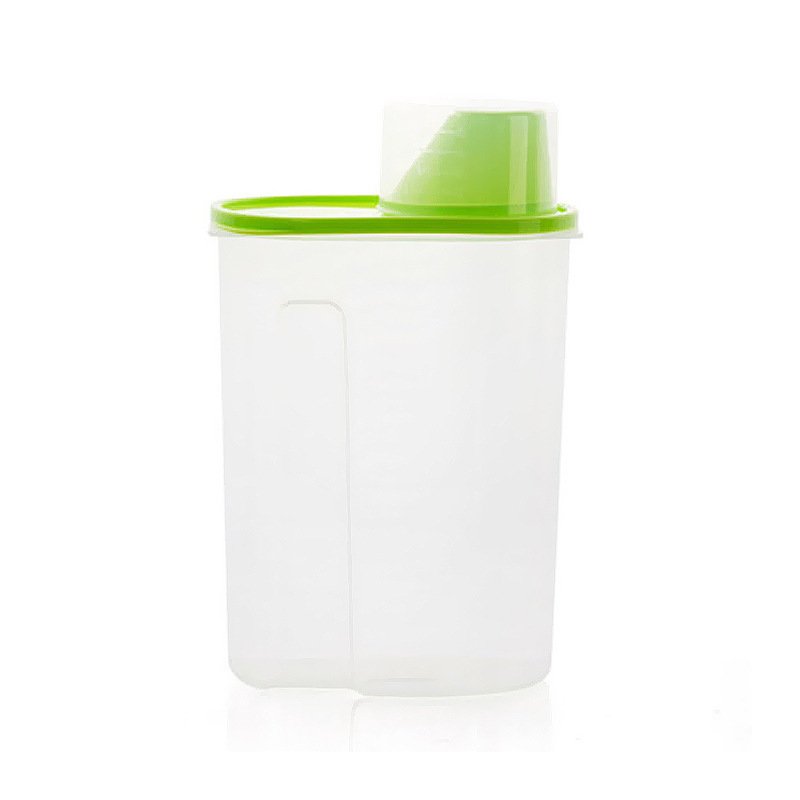 1pcs 2 5L Large Capacity Kitchen Refrigerator Box Draw Cereal Container Lid Plastic Food Storage Crisper Jars in Storage Bottles Jars from Home Garden
