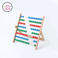 Montessori Math Toys For Children Abacus Counting Frame Colorful Wooden Math Toys For Kids Montessori Materials