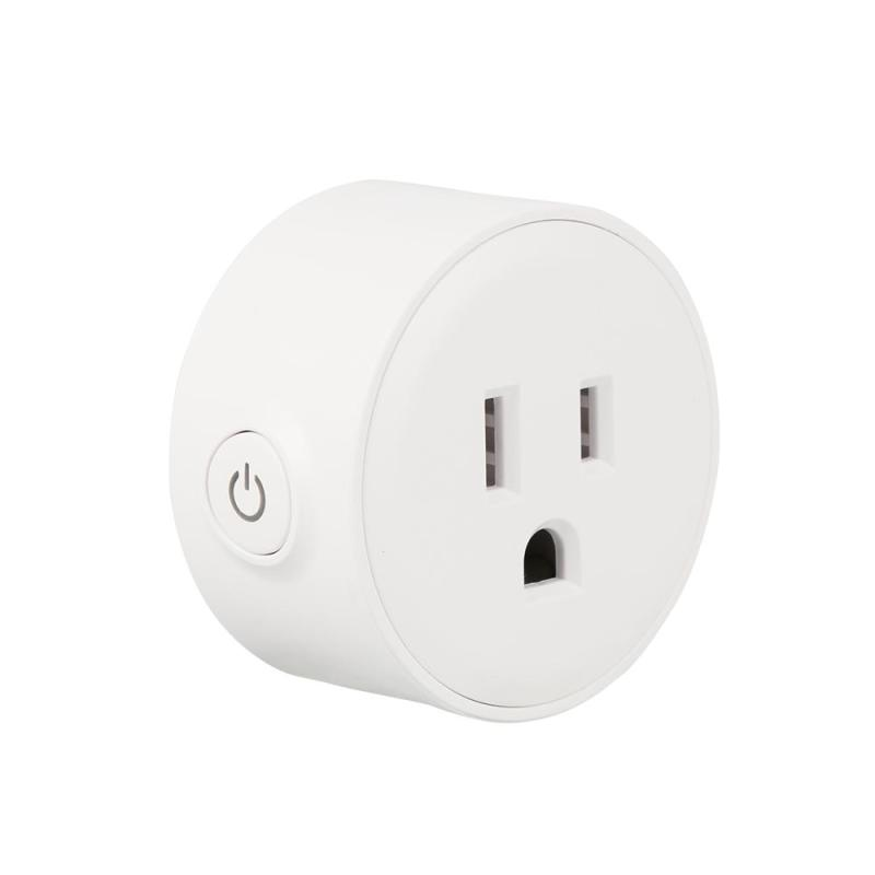 QIACHIP Mini Smart Home Socket WiFi APP Wireless Control Switches Timer Plug for Android IOS work with Amazon Alexa US Plug H2 qiachip rf wifi 433mhz e27 wireless smart light led lamp bulb holder smart home app timer remote control switch for ios android