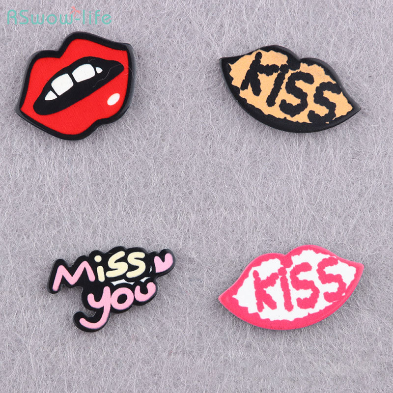 Cute Cartoon Resin Badge Brooch Backpack Accessories Clothing Accessories Lips Style For Dress Decoration Or Give To Friends