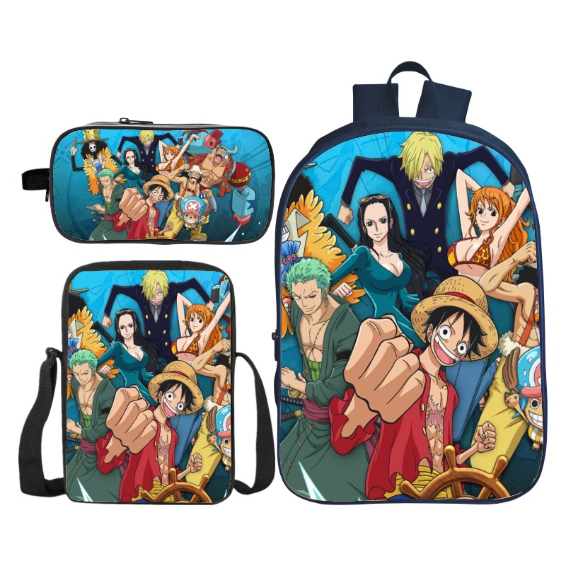 Nouveau chaud 3 pièces/ensemble nouveaux arrivants 3D impression enfants épaule sacs à dos Cartoon enfants bébé sacs d'école pour garçons et filles Bookbag - 3
