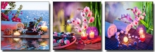 New 5D Diy Diamond Painting pink orchid candles stone Full Embroidery sweet mosaic decor
