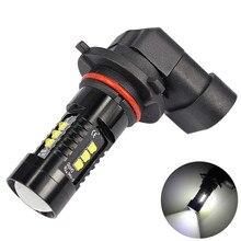 1x LED światła przeciwmgielne do samochodu 6000K biały 9005 9006 wysoka dioda LED dużej mocy pojazd mgła reflektor samochodowy żarówki żarówki do samochodów