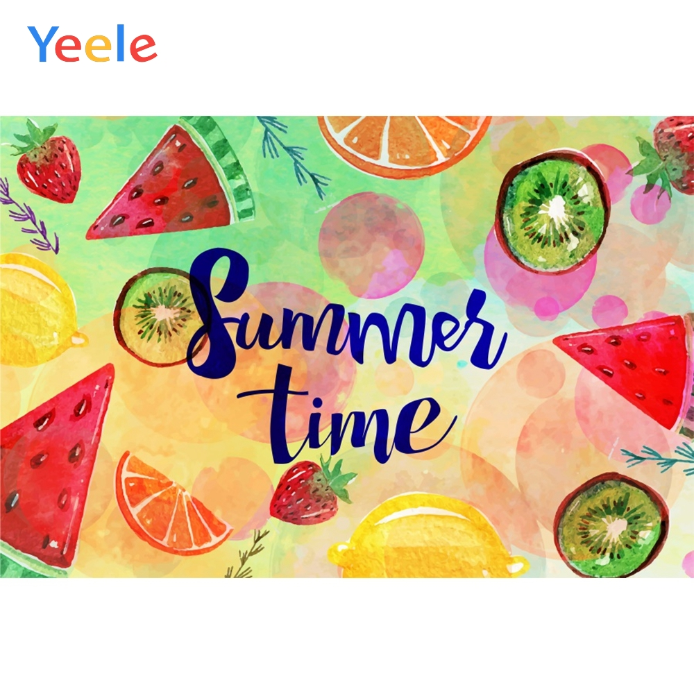 Yeele Summer Time Party Watermelon Photocall Decor Photography Backdrops Personalized Photographic Backgrounds For Photo Studio