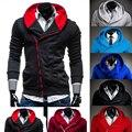 Hoodies Men 2017 Brand Male Long Sleeve Hoodie Inclined Zipper Pocket Sweatshirt Mens Moletom Masculino Hoodies Slim Tracksuit