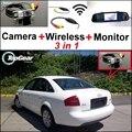 3 in1 Специальный Вид Сзади Камеры Wifi + Беспроводной Приемник + Зеркало монитор Простая Система Парковки Для Audi A6 S6 RS6 C5 MK5 1997 ~ 2004