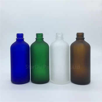 travel bottle 100ml amber blue green transparent frosted glass bottle with sprayer, 100cc perfume bottle Spray Bottles 200pcs