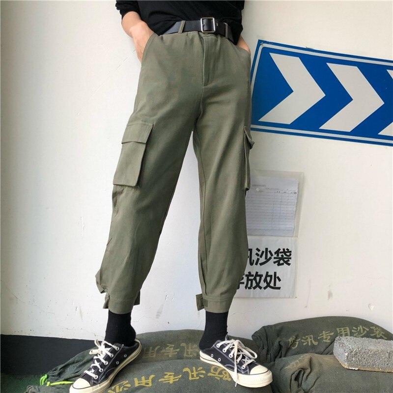 High waist pants camouflage loose joggers women army harem camo pants streetwear punk black cargo pants women capris trousers
