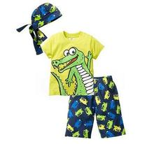 Boys Casual Tracksuits 2017 Summer Dinosaur Animal T-Shirt+Pant Outfits Kids Sports Beach Suit 3PCS Sets CHildren's Clothing
